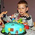 Super gâteau fait par Carole pour les 6 ans de Yoyo