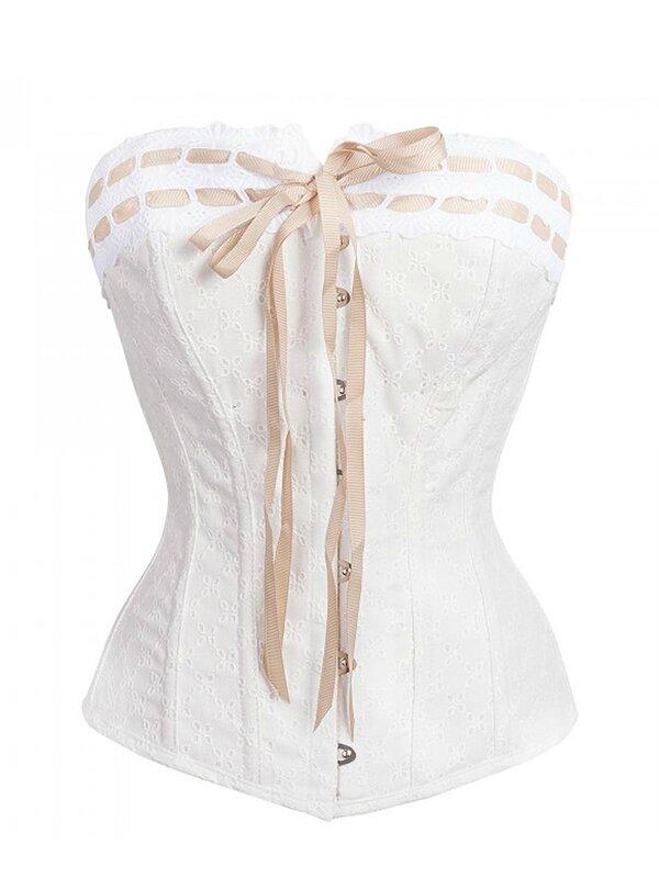 corset antoinette vintage blanc mariage ceremonie (3)