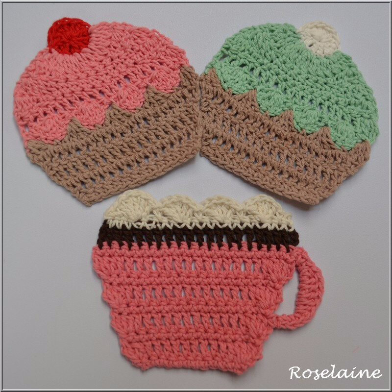 Breakfast Cupcakes By Drops Design Je Tricote Tu Crochètes