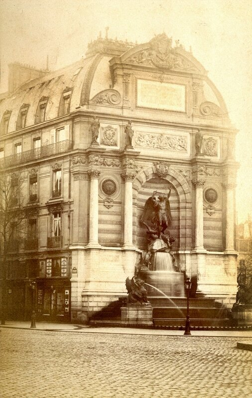 Fontaine_Saint-Michel_(Paris)_-_1880s