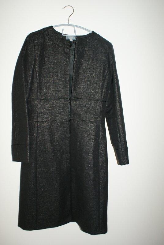 manteau habille noir