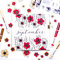 Bullet journal septembre - lucile de jolies choses