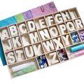 Coffret alphabet bois à décorer