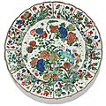 A large lobed famille verte dish, qing dynasty, kangxi period (1662-1722)