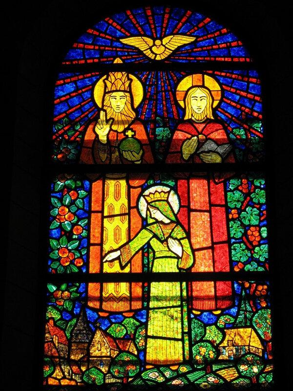 église de Menneval, 1 Trinite et Vierge, Decorchemont