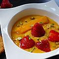 Soupe de mangue à la fraise