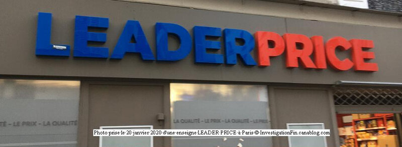 Photo enseigne Leader Price à Paris
