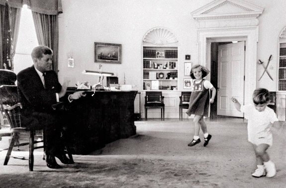 JFK Caroline JFK Jr in Oval Office