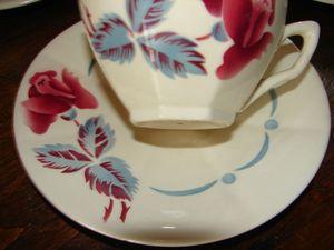 Sous-tasse à café Boulogne Digoin et sa tasse