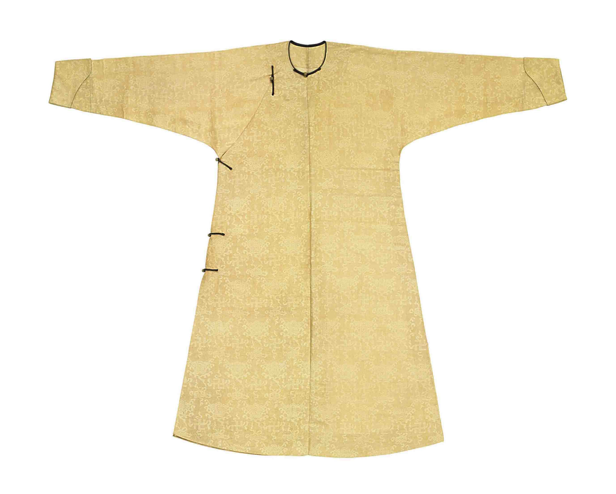 A very fine man s damask-woven silk gauze summer informal robe ... 9b2118959