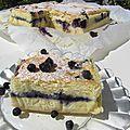Gâteau magique à la vanille fourré aux myrtilles
