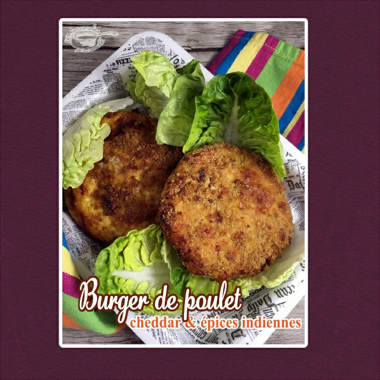 burger de poulet cheddar & épices indiennes (scrap)