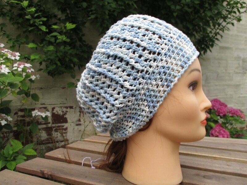 Bonnet simple en fil coton (7)