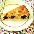 Gâteau aux amandes et cerises
