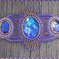 bracelet aladin abalone mauve 2