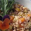 Salade de sarrasin et petits légumes