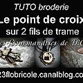 Tuto broderie : le point de croix sur 2 fils (vidéo)