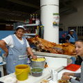 Chanco (pork) at the market in Ecuador