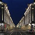 Rue Royale à Orléans un soir d'été bien chaud...