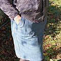 Une nouvelle jupe 111 burda rallongée...