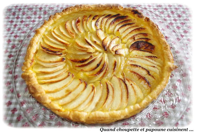 tarte à la compote de pommes et pommes-2308