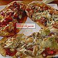 Trio de pizzas maison.