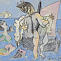 Pablo picasso's baigneuses, sirènes, femme nue et minotaure to star in one: a global sale of the 20th century