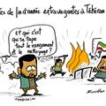 Téhéran, iran , émeutes, révoltes et répression nerveuse