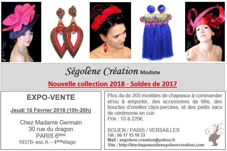2018_02_15 expo Chapeaux PARIS 6ème Mme Germain