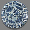 A blue and white porcelain plate for the 'san diego' cargo. circa 1600