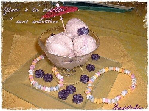 glace à la violette