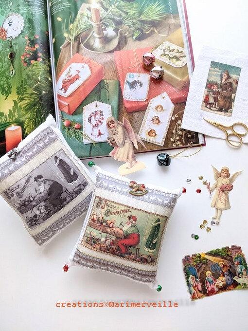 coussins atelier du père Noël ©Marimerveille