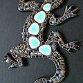 Lézards Galets turquoises Lisandro x