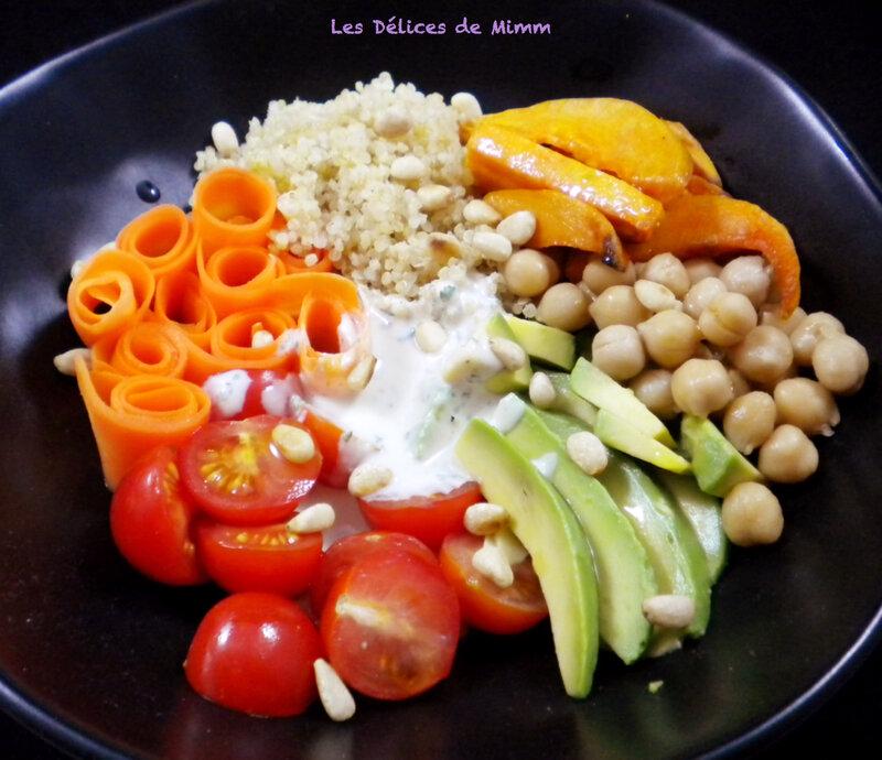 Buddha bowl végétarien, sauce au sésame 5