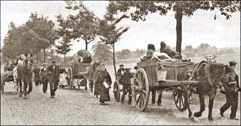 site-so-be-1914-les-habitants-dun-village-belge-fuyant-devant-les-avant-gardes-allemandes