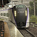 JR E353系 under rain ! Otsuki station