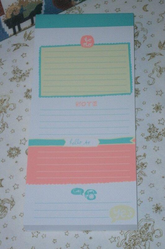 Christelle, calendrier de l'avent 2014 - jour 3 - bloc notes