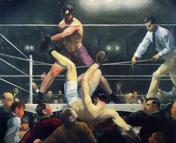 1924 Dempsey and Firpo oil on canvas 129