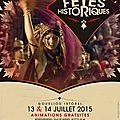 Affiche fêtes historiques 2015 Vannes (56)