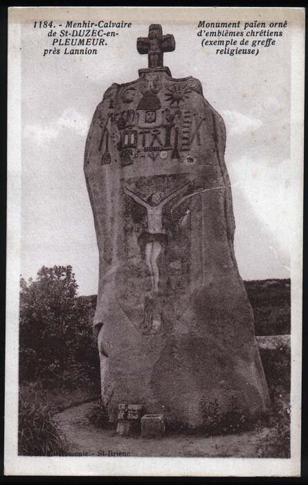 St_Uzek___Christianised_menhir