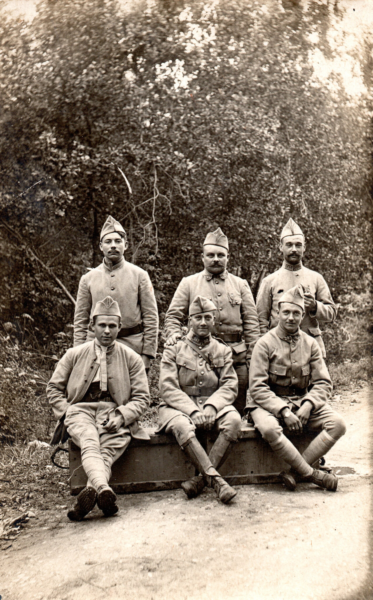 Haut-Rhin, août 1918, Hommes du 243e RAC