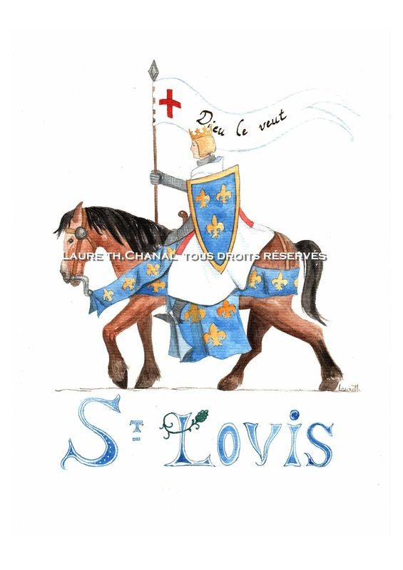 Saint Louis ou Louis IX, roi de France.