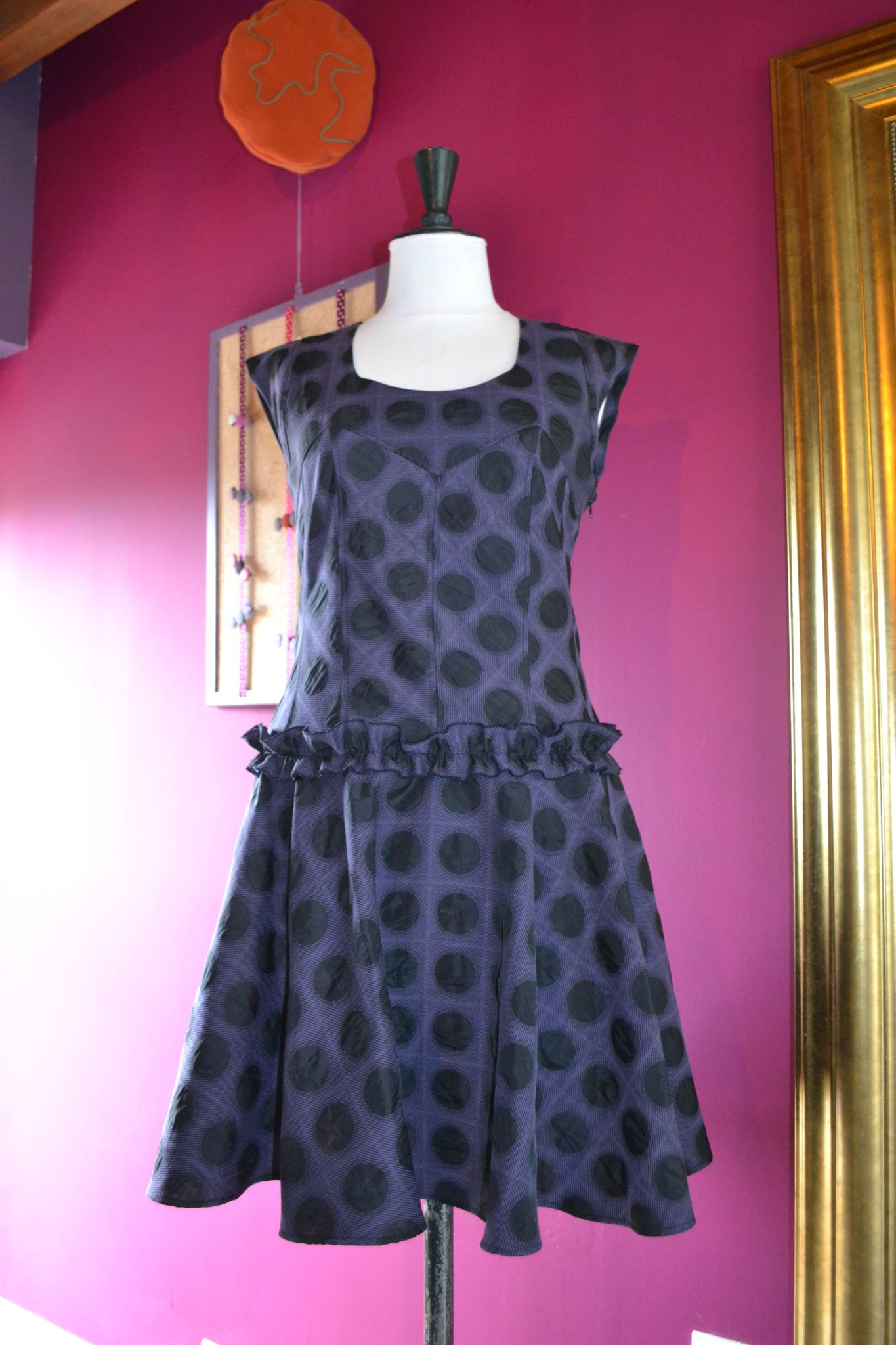 robe en jacquard d'inspiration 60's/purplely