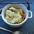 Gratin de pâtes aux lardons et a la raclette