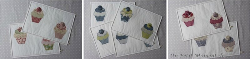 Ensemble de sets cupcakes 3