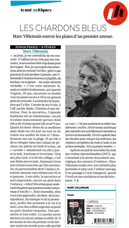 Livres Hebdo, Véronique Rossignol, Mado