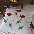 coquelicots coussin2