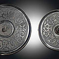 Two bronze mirrors, Warring States Period (475-221 BC)