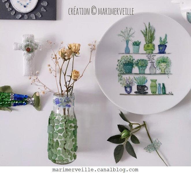 petit vase - croix- broche - assiette créations exclusives Marimerveille