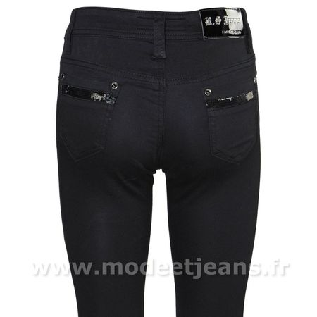 a5218dee134 Pantalon slim fashion noir femme - JEAN FASHION PAS CHER